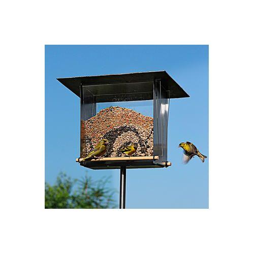 Opossum Design Edelstahl-Vogelhaus VH-10-M mit Sichtfenster