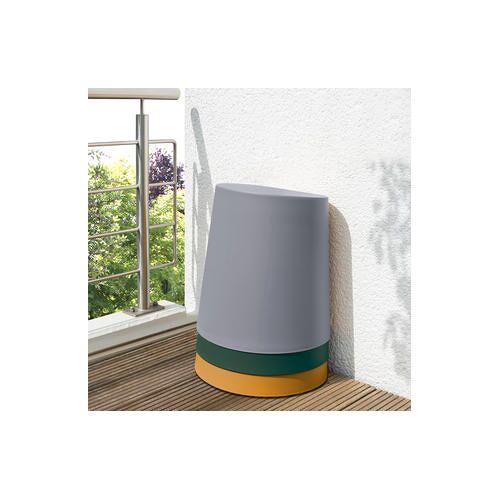Leitmotiv, Relish Hocker, stapelbar, 34 x 43 x 45 cm, grau