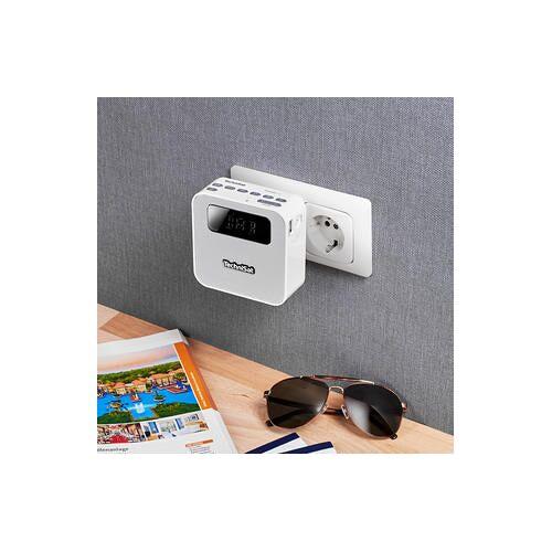 TechniSat Steckdosenradio Flex, DAB+/UKW, Bluetooth, USB, Akku- oder Netzbetrieb