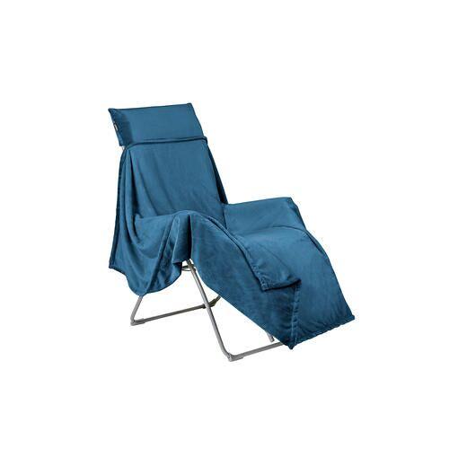 Lafuma Flocon-Decke für Relaxliege, 150 x 180 cm, dunkelblau