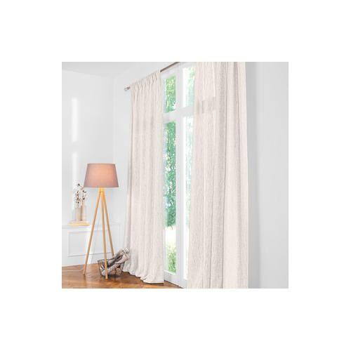 Vorhang Two-Tone - 1 Stück, 132 x 260 cm - Creme/Beige