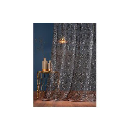 Store/Gardine Rosas - 1 Stück, 132 x 260 cm - Schwarz