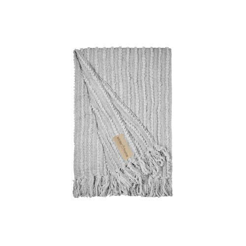 Winter Home Plaid Galloway, 130 x 180 cm, grau