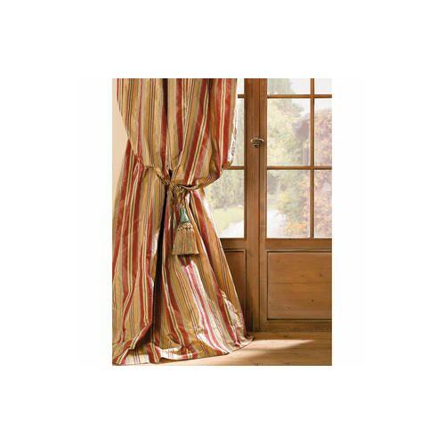 Vorhang Striato, 132 x 280 cm - Creme/Rot/Grün - 2er-Set
