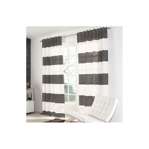 Vorhang Angie - 1 Stück, 137 x 245 cm - Schwarz/Weiß