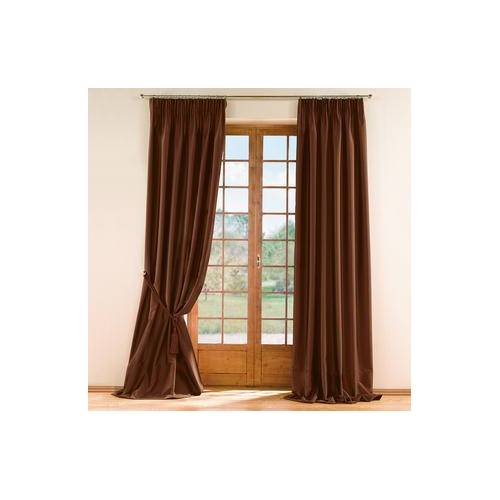 Vorhang Mandria, 142 x 280 cm - Braun - 2er-Set