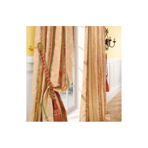 Vorhang Le Roi - 1 Stück, 132 x 280 cm - Creme/Rot/Grün