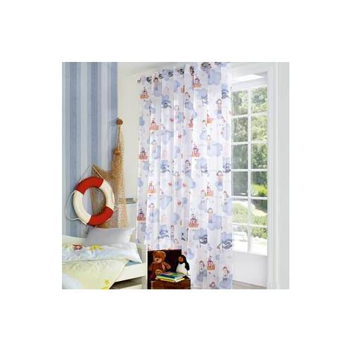 Store/Gardine Pirat - 1 Stück, 300 x 245 cm - Weiß/Blau