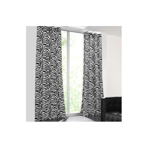 Vorhang Zebra - 1 Stück, 142 x 245 cm - Schwarz/Weiß