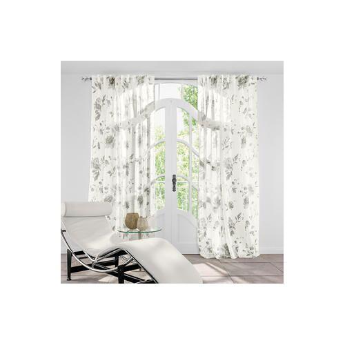 Vorhang Provenza - 1 Stück, 156 x 245 cm - Creme/Grau