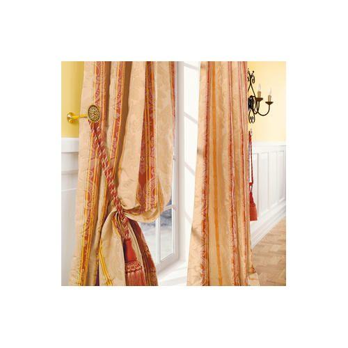 Vorhang Le Roi - 1 Stück, 132 x 280 cm - Creme/Orange/Rot