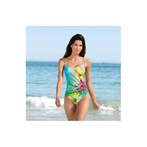 Schwab Bademoden SunSelect®-Badeanzug, 36 - Gelb/Grün/Pink