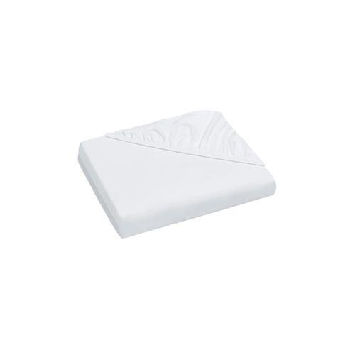 Domoline Luxus-Spannbetttuch, Weiß, 180-200 x 200 cm