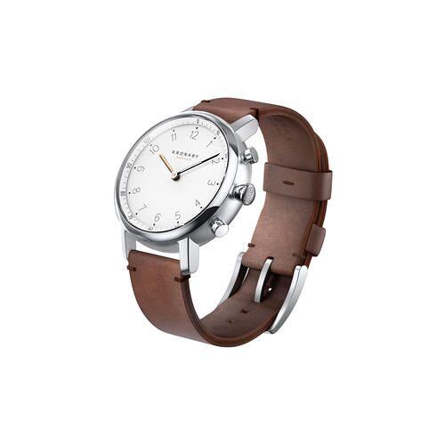 Kronaby Nord Bluetooth Smartwatch Uhr, 38 mm, braunes Lederarmband