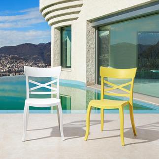 Papatya Design Stuhl XSera-S, stapelbar, in-/outdoor, weiß