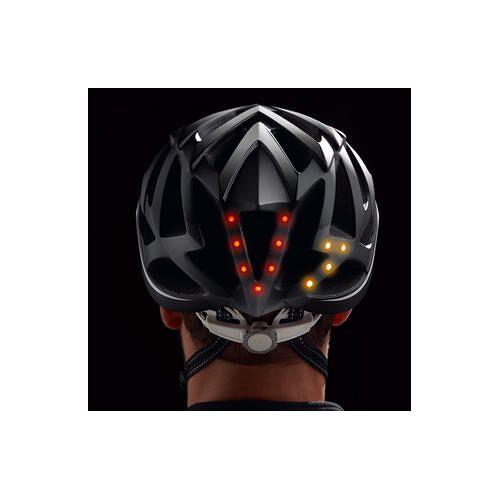 Livall BH62, smarter Rennradhelm, Fahrradhelm mit LED Beleuchtung, 55 - 61 cm, schwarz/weiß
