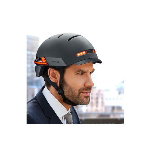 Livall BH51M Neo, smarter Fahrradhelm mit Lichtsystem, Größe M, 54 - 58 cm