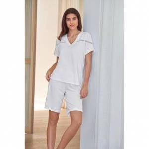Pluto Shorty-Pyjama Clean-Chic, 40 - Weiß