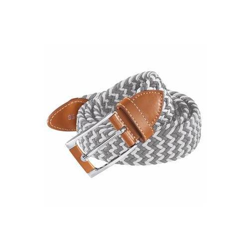 Belts Elastischer Gürtel, Damen - Weiß/Grau