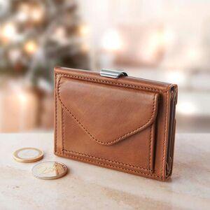 Exentri Wallet EX002 RFID Portemonnaie, Kartenetui aus Leder, Braun