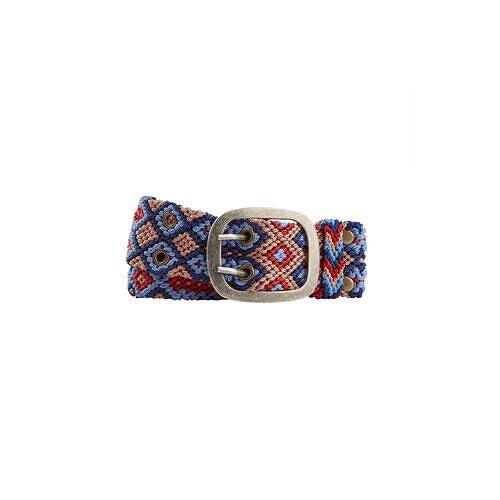 Smitten Quipu-Gürtel, 85 cm - Blau/Rosa