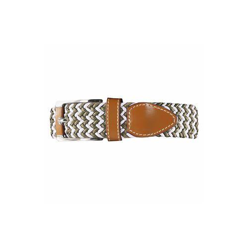 Belts Elastischer Gürtel, Damen - Weiß/Khaki