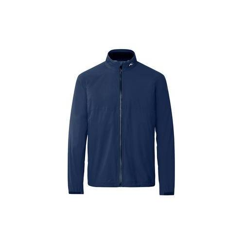 KJUS Ultraleicht-Golf-Regenjacke Dexter 2,5L, wasserdicht, atmungsaktiv, dehnbar, blau, Gr. 48