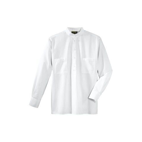 Hollington Nehru-Hemd, Baumwolle, 41/42 cm - Weiß