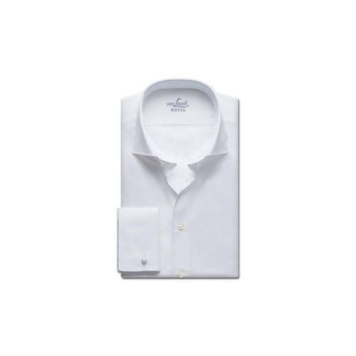 van Laack Premium-Hemd Royal Tailor Fit oder Slim Fit, Slim Fit, Doppelmanschette, 67 cm Ärmellänge - 44 cm - Weiß