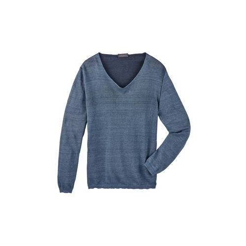 Seldom Leinen-Giza-Pullover, 50 - Indigo