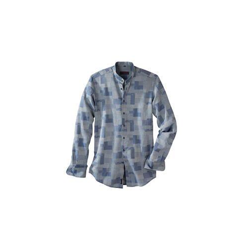 Patchwork-Denim-Hemd, 39 cm - Patchwork-Denim