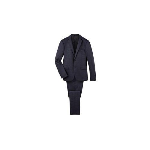 Super120 Jersey-Sakko oder -Hose, Sakko - 58 - Blau/Schwarz