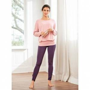 Curare Yogawear Curare Yoga-Tank-Top, -Fledermaus-Shirt oder -Volant-Pants, Volant-Pants - 40 - Indigo