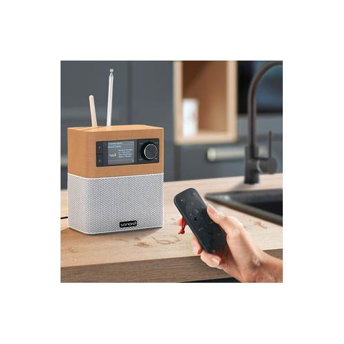 Sonoro sonoroSTREAM Musiksystem, UKW/DAB+ Radio, USB, WLAN, Ahorn / Weiß