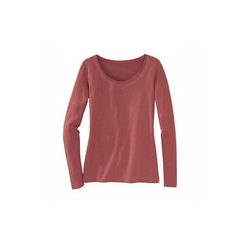La Prenda Alpaka-Pima-Shirt, 44 - Marsala