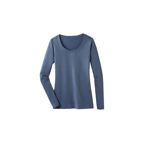 La Prenda Alpaka-Pima-Shirt, 46 - Jeansblau