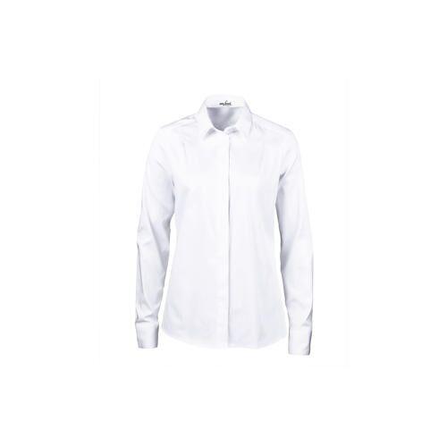 van Laack Plissee-Hemdbluse, Weiß, 38 - Weiß