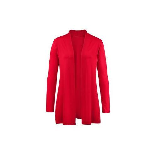 Moya Basic-Shirt, -Rock, -Hose, -Top oder -Cardigan, Cardigan - 36 - Rot