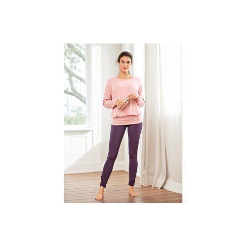 Curare Yogawear Curare Yoga-Tank-Top, -Fledermaus-Shirt oder -Volant-Pants, Fledermaus-Shirt - 40 - Rosenholz