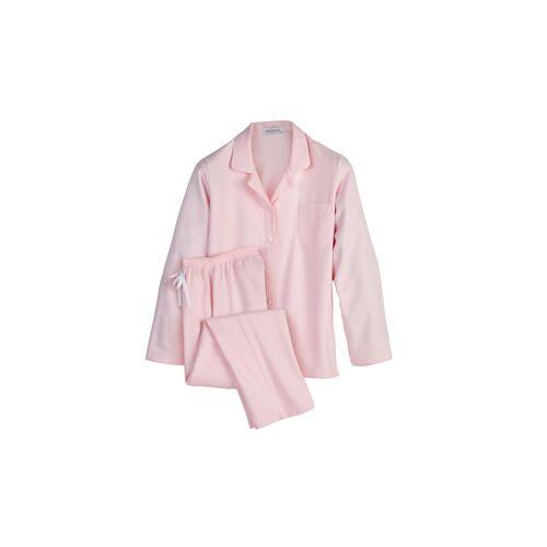 NOVILA Flanell-Pyjama, Damen, 38 - Rosé