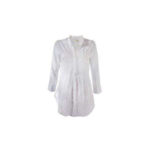 Rubyyaya Hippie-Bluse, 38 - Weiß