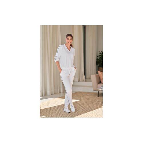 HFor Sweat-Hose, Langarm oder -Kurzarm-Sweater, Langarm-Sweater - 40/42 - Weiß