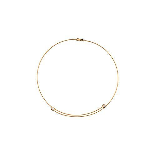 Kabelcollieroder -Ring mitBrillanten, Collier