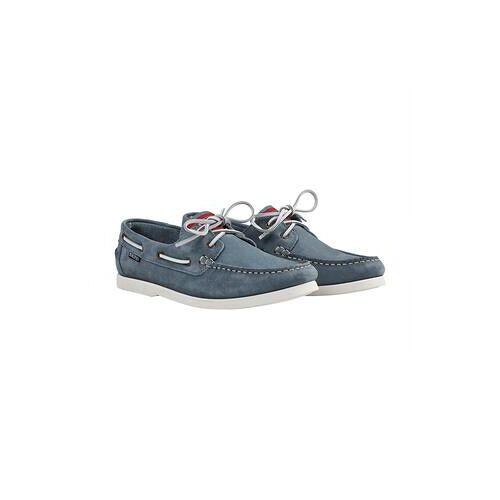 Snipe® Waschbarer Leder-Bootsschuh, 42 - Blau
