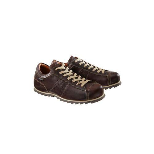 Snipe® Ripple-Ledersneaker, 43 - Braun