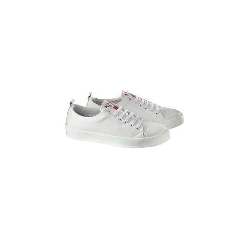 Snipe® Waschbarer Ledersneaker, 41 - Weiß