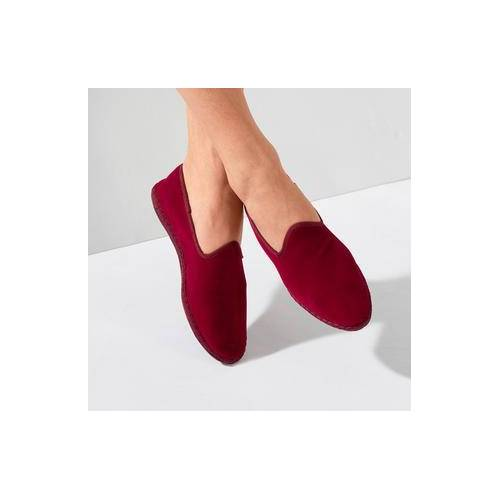 Damen-Samt-Slipper, 41 - Rot