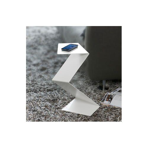 Franke Enrico Franke Design Beistelltisch Der geknickte Diener, weiß