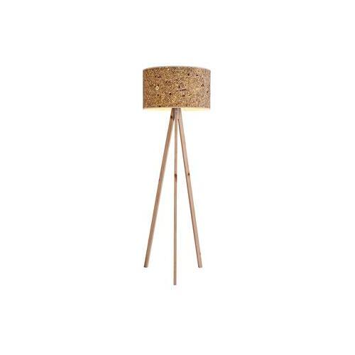Steh- oder Tischleuchte aus Zirbenholz und Almheu, Stehleuchte