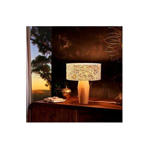 Tischleuchte aus Zirbenholz und Almheu